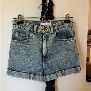 American Apparel acid wash mom shorts